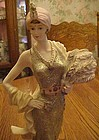 Deco fashion lady figurine from the Jerome Collection.