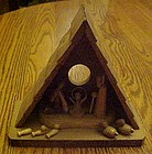 Vintage all wood Creche & Nativity decoration