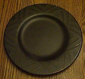 "Pfaltzgraff Midnight Brown luncheon plate 8 1/4"""
