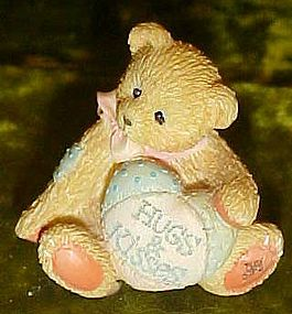 Cherished Teddies bear with heart pillow 916382
