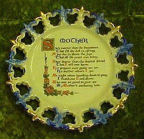 Vintage Mother poem plate