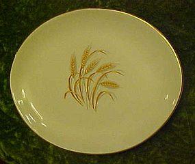 Homer Laughlin Golden Wheat oval serving platter