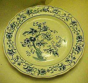 Double Phoenix blue and white Ming tree dinner plate