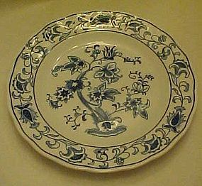 Double Phoenix blue and white Ming Tree bread plate