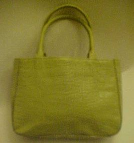 Gracious green alligator leather purse by Express