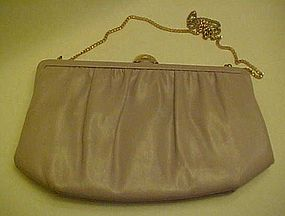 Vintage 50's Mardane mauve leather convertible purse