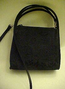 Little black bag, embroidery purse shoulder bag