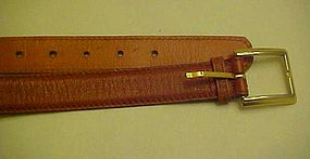 "Vintage Pierre Cardin mens  steerhide leather belt 36"""