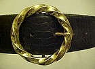 Vintage Cipriani Italian aligator ladies belt   Small