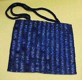 Lavish cobalt blue all beaded purse