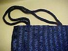 Lavish cobalt blue all beaded purse