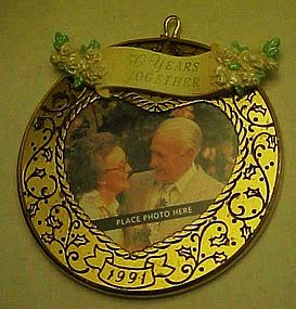Hallmark 50 Years together 1991 photo Ornament