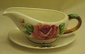 Vintage gravy boat with attached under plate