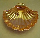 Fireking Peach Lustre sea shell scallop dish