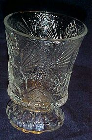 Tiara Ponderosa Pine crystal clear  juice glass 4 1/2""