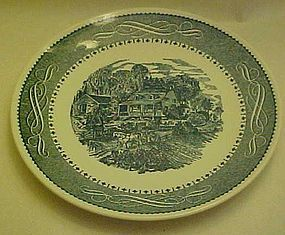 Currier and Ives dinner plate by Anchor Hocking