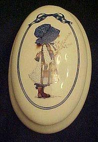 Holly Hobbie ceramic trinket  vanity box 2002