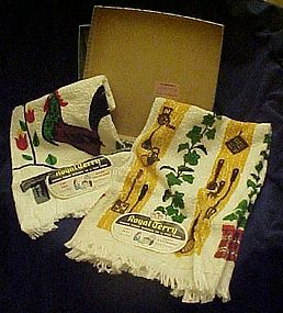 Vintage rooster kitchen towel set Mint 1959