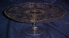 New Martinsville Radiance  Prelude cake stand
