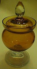 Pairpoint amber crystal control bubble covered candy