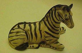 Vintage UCCTI reclining zebra figurine