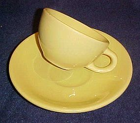 Vintage Wallace cup and saucer YELLOW desert ware