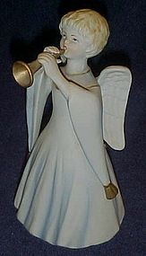 Schmid musical  angel figurine plays Silent Night