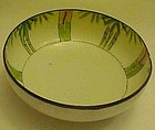 Old  hand painted bamboo Nippon bowl three legs