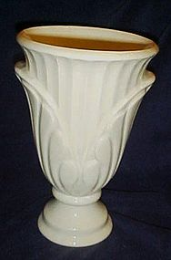 Large vintage white pottery vase 9 3/4""