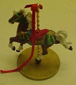 Hallmark ornament Star carousel horse