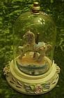 Carousel horse figurine in glass dome