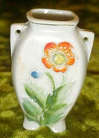 Occupied Japan mini vase with orange flower