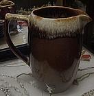 "Pfaltzgraff gourmet brown drip pitcher 7 3/8"""
