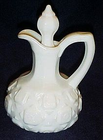 Westmoreland  glass old quilt milk glass cruet