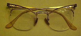 Vintage Bosch & Lomb 1/10 12k GF ladies cat eye glasses