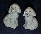 Ceramic poodles salt and pepper shakers