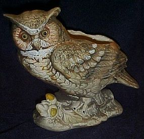 Napco Great horned owl figual planter C-6565