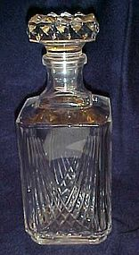Heavy lead crystal bar decanter and stopper