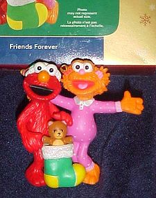 Sesame Street Friends Forever ornament Carlton MIB