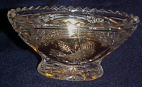 Hofbauer Byrds crystal and gold oval dish missing  lid