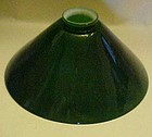 Green cased glass cone shape shade replacement