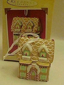 Hallmark New Home hinged box porcelain ornament MIB