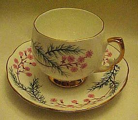 Royal vale bone china cup and saucer pink flowers