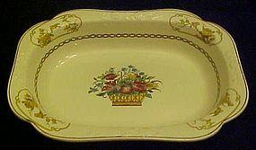Antique Spode 2/7199 baskets and birds vegetable bowl