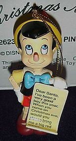 Disney Christmas Magic Pinocchio Ornament MIB