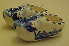 Souvenir blue delft china shoes from Holland