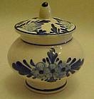 Souvenir of Kobenhavn Delft blue mustard pot