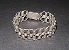 """Early Taxco 980 Silver Link Bracelet 8"""""""