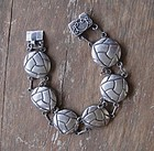 Mexican Silver Bracelet Arts Crafts Style