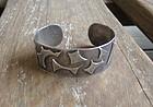 Modernist Silver Cuff Bracelet Mid Century Studio